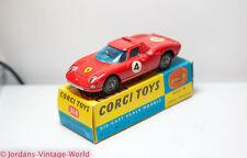 Corgi 314 Ferrari Berlinetta 250 Le Mans Boxed - Ex Vintage Original Diecast Old