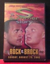 WWE - Summerslam 2002: Rock vs. Brock (DVD, 2002) WWF Rare And OOP