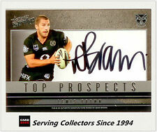 2011 Select NRL Strike Top Prospect Signature Card TP15 Lewis Brown (Warriors)