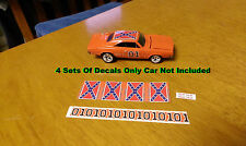 Maisto Ertl General Lee 4 Waterslide Decals 1/64 Decal Dukes Of Hazzard