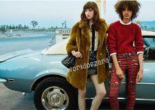 NWT MANGO FAUX FUR COAT JACKET VINTAGE AW 2016 Size XXS (can fit XS) WIDE LAPELS