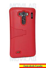 Funda LG D855 / G3 protectora bumper con soporte color Rojo