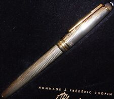 Montblanc Sterling Silver 925 Meisterstuck Fountain Pen 4810 18K Gold Solitaire