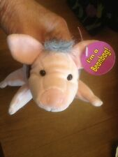 "BABE The GALLANT PIG PLUSH BEAN BAG 8"" LONG 1997/98 EASTER GIFT READY! New"