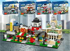 City Series Mini Street pizzeria city hall theatre Fire station  fit lego no box