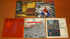 5x FOLK VINYL LP LOT Liberty Revolution Commune Armee Rouge War Songs Alexandrov