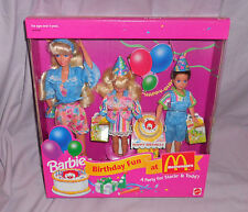 BARBIE - BIRTHDAY FUN AT McDONALD'S - NEW IN BOX - 1993  BARBIE/STACIE & TODD