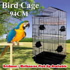 1 x New Black Elegant Traditional House Top Bird Cage Carry Cage 94CM