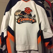 QMJHL SHERBROOKE CASTERS GAME WORN HOCKEY JERSEY-BAUER