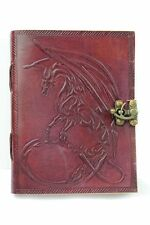 Lederbuch Tagebuch Notizbuch Kladde Drache 0123a