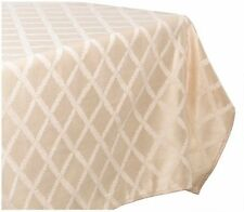 Lenox Laurel Leaf 70-by-144-Inch Oblong / Rectangle Tablecloth, Ivory, New, Free