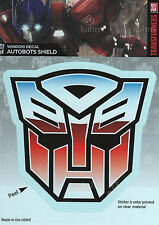 "Transformers AUTOBOTS SHIELD Car Window Sticker Decal - 5"" Officially Licensed"