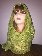 Long Green Wedding Scarf Hijab Wrap Sheer very pretty and fashionable Last 1's