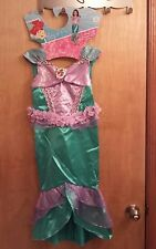 Disguise Disney Princess Ariel Deluxe Costume M 7-8 With Wand  New w/Tags