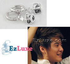 Korean Tohoshinki TVXQ DBSK Xiah Junsu Crown black cubic inside Earrings
