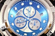 New Invicta Men's Swiss Made Reserve Bolt Zeus Ice Blue/silver Black Poly Watch