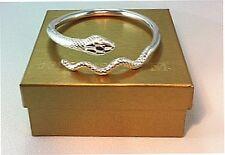 Egyptian Snake Bracelet Silver Plated Inner Circumference 7 5/8''L