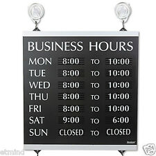 NEW 13 x 14 Open / Close Monday - Sunday Business Hours of Operation Sign Window
