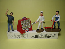 4  FIGURINES   SET 226  GARAGE  STATION  SERVICE   VROOM  1/43  A  PEINDRE