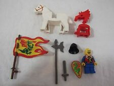LEGO Dragon Knight Minifigure Horse Cloth Flag Weapons Armor castle lot L254