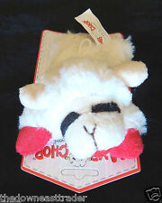 "6"" Lamb Chop White Soft Plush Squeak Fetch Play Happy Dog Toy Multipet 48371 New"