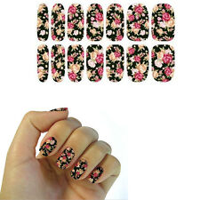 Fashion Water Transfer Nail Art Sticker Rose Flowers Design Manicure Decor Decal