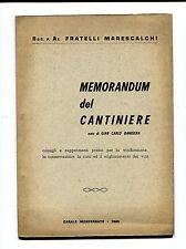 Fratelli Marescalchi#MEMORANDUM DEL CANTINIERE#Casale Monferrato 1960 - Vino #GR