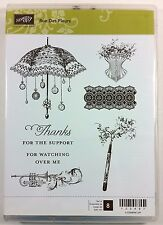 Stampin' Up! Rue Des Fleurs Clear Mount Stamp French Corset Parasol Horn Pen