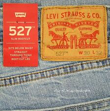 Levis 527 Jeans Mens New Slim Boot Cut Size 30 x 32 BLUE STONE Levi's NWT #285