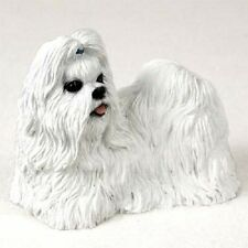 SHIH TZU Dog HAND PAINTED FIGURINE Resin Statue Collectible WHITE Puppy new