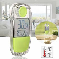 LCD Digital Solar Indoor Home Car Window Thermometer Temperature Meter + Sucker