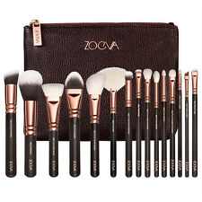 ZOEVA 15pcs Rose Golden Complete Make Up Blush Brush Set Cosmetic Kit New+CASE