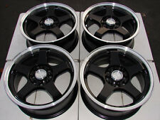 15 4x114.3 4x100 Matte Black 4 Lug Wheels Lancer Accord Civic Passat Jetta Rims