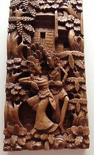 "Javanese Balinese hand carved wood architectural wall Art 15 1/4"" x 7 1/2"""