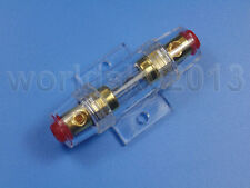 New 100A Gold Plated Fuse Holder Block for Car Subwoofer Audio Amplifier