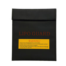 RC LiPo Battery Safe Storage Bag Safety Charge Sack Pouch Case Black 23x30cm