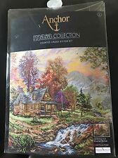 SEALED Anchor Maia Collection MOUNTAIN RETREAT Counted Cross Stitch Kit 10.5x13'