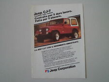 advertising Pubblicità 1982 JEEP CJ-7 CJ 7