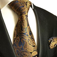 XL corbatas set 2tlg marrón Navy extra largo 165cm seidenkrawatte + pañuelo 512