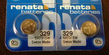 USA Authorized Seller 2 Renata 329 SR731SW S42 24 V329 WATCH BATTERY NEW Packing
