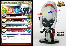 GOULTARD THE BARBARIAN - Figura, tarjeta en Inglés, código online Krosmaster