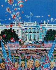 "Hiro Yamagata       ""U.S. Constitution""       Lithograph on Paper   BA"