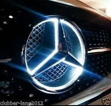 WHITE MERCEDES ILLUMINATED LED FRONT GRILL CENTRE BADGE EMBLEM LOGO