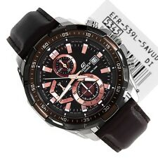 IMPORTED Casio Edifice Imported EFR-539L Brown Leather strap Men's watch.NEW
