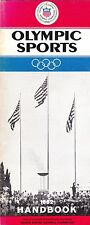 1962 OLYMPIC SPORTS HANDBOOK BY THE UNITED STATES OLYMPIC COMMITTEE