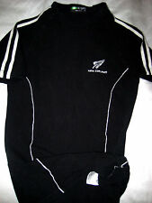 NEW ZEALAND DESIGN  ALL BLACKS  RUGBY JERSEY-EMBROIDERED-STRETCH MUSCLE FIT- XS