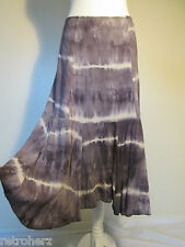 Tie dye jupe originale à bout pointu ourlet abstract boho indie hippie 12 14