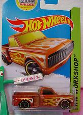 Case J/K 2014 Hot Wheels CUSTOM '69 CHEVY PICKUP #217 ∞Orange truck∞HW GARAGE
