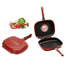 Happy Call 30cm Big Size Fry Pan Non-stick Fryer Pan Double Side Grill Fry Pan