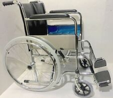 """Budget Price Quality Wheelchair Full Size Adult 18"""" Seat Hospital Grade Folding"""
